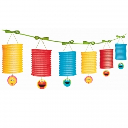 Sesame Street Party Paper Latern Garland